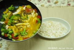 南瓜濃湯雞肉燴飯